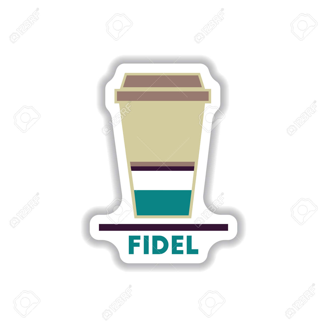 Label Frames And Badges Vector Icons Coffee Emblem Fidel Coffee ...