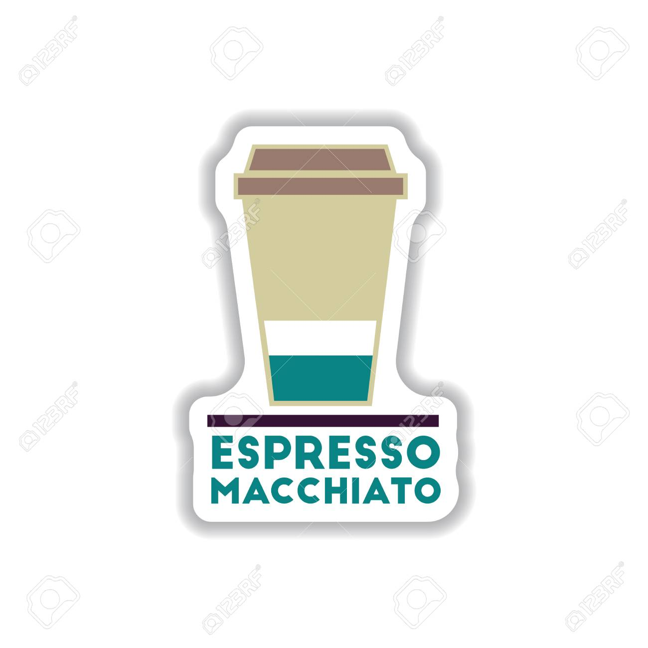 Label Frames And Badges Vector Icons Coffee Emblem Espresso ...