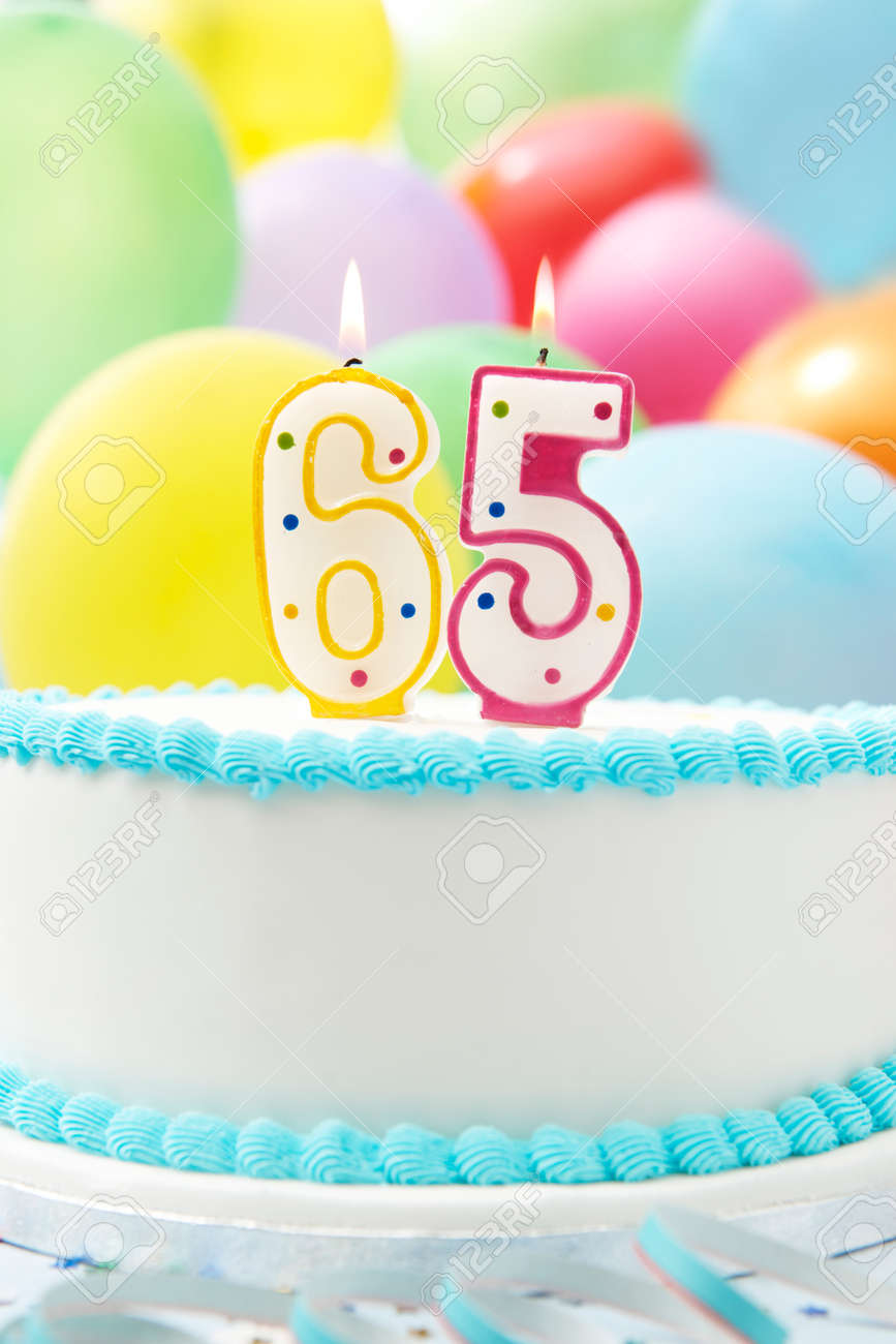Terrific Cake Celebrating 65Th Birthday Stock Photo Picture And Royalty Funny Birthday Cards Online Elaedamsfinfo