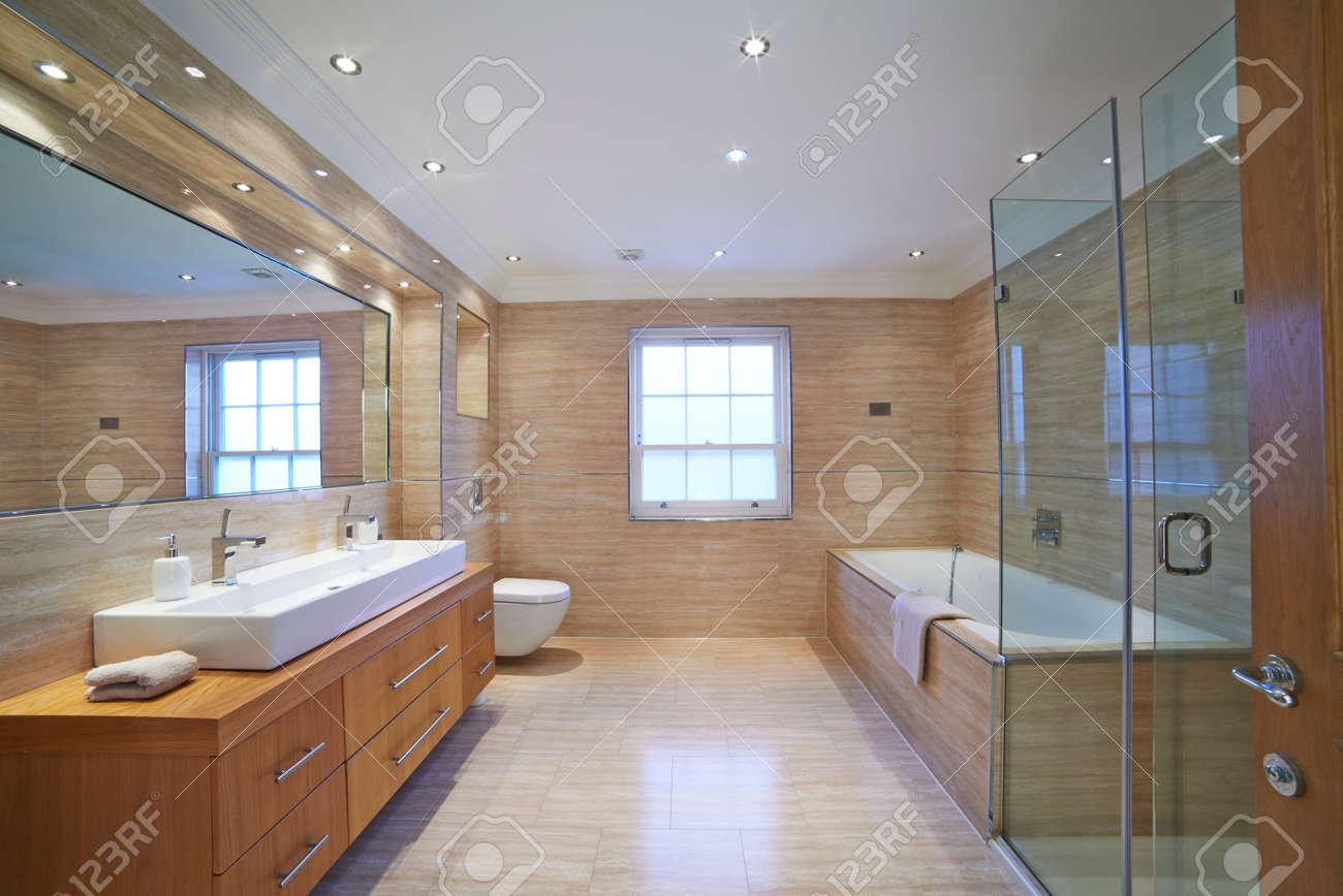 Interior View Of Beautiful Luxury Bathroom - 54905150