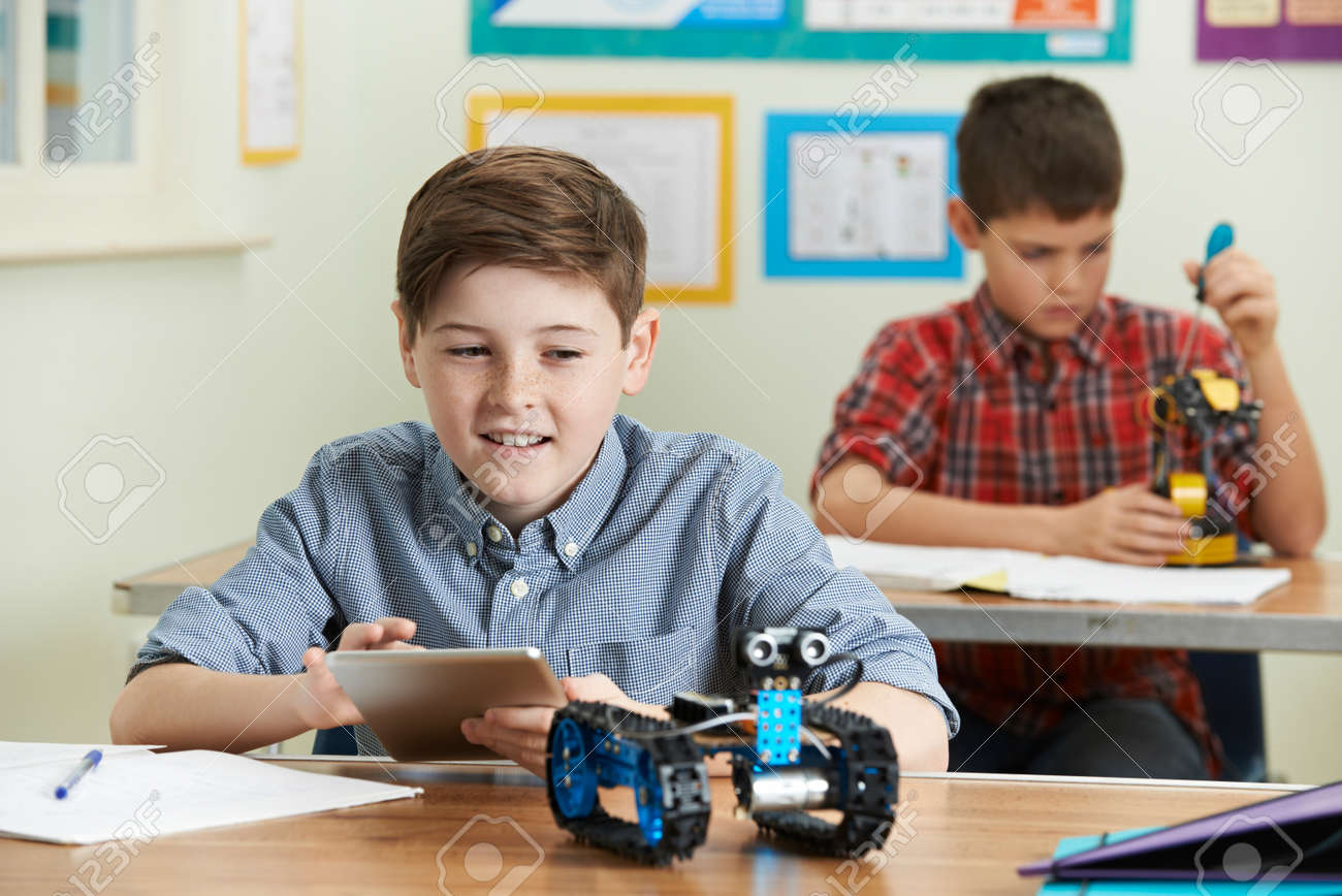 Pupils In Science Lesson Studying Robotics - 68662874