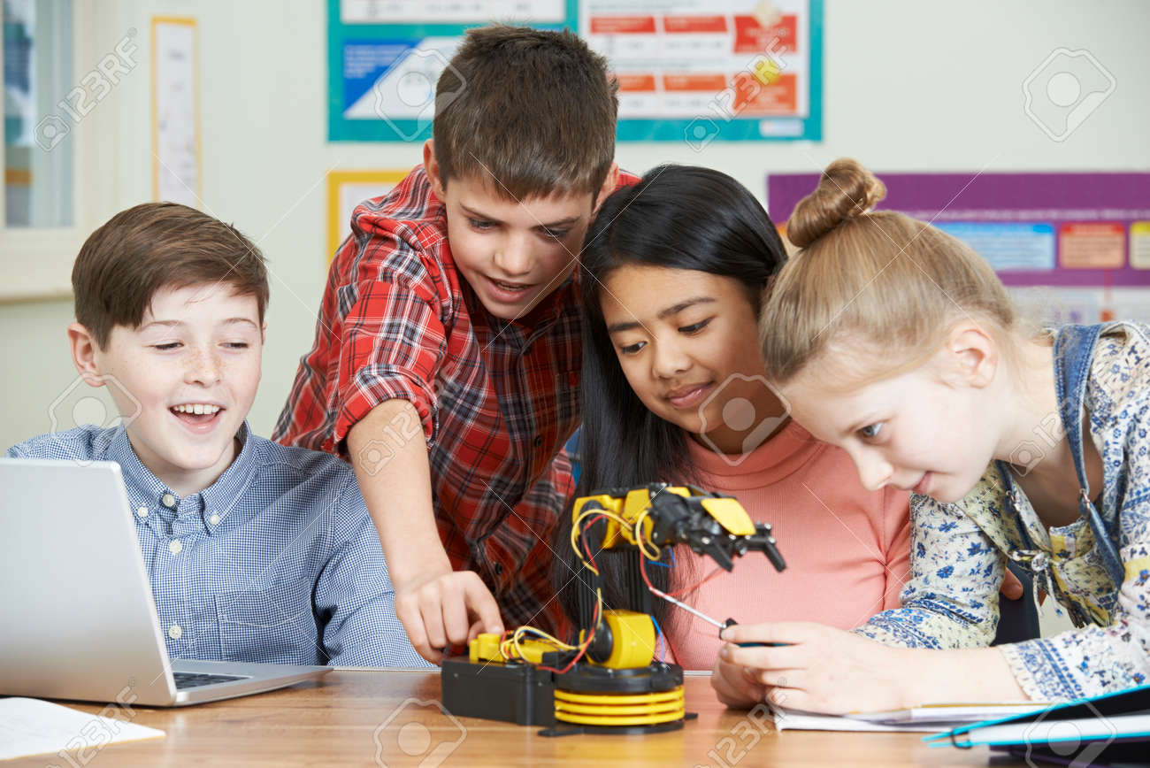 Pupils In Science Lesson Studying Robotics - 73172438