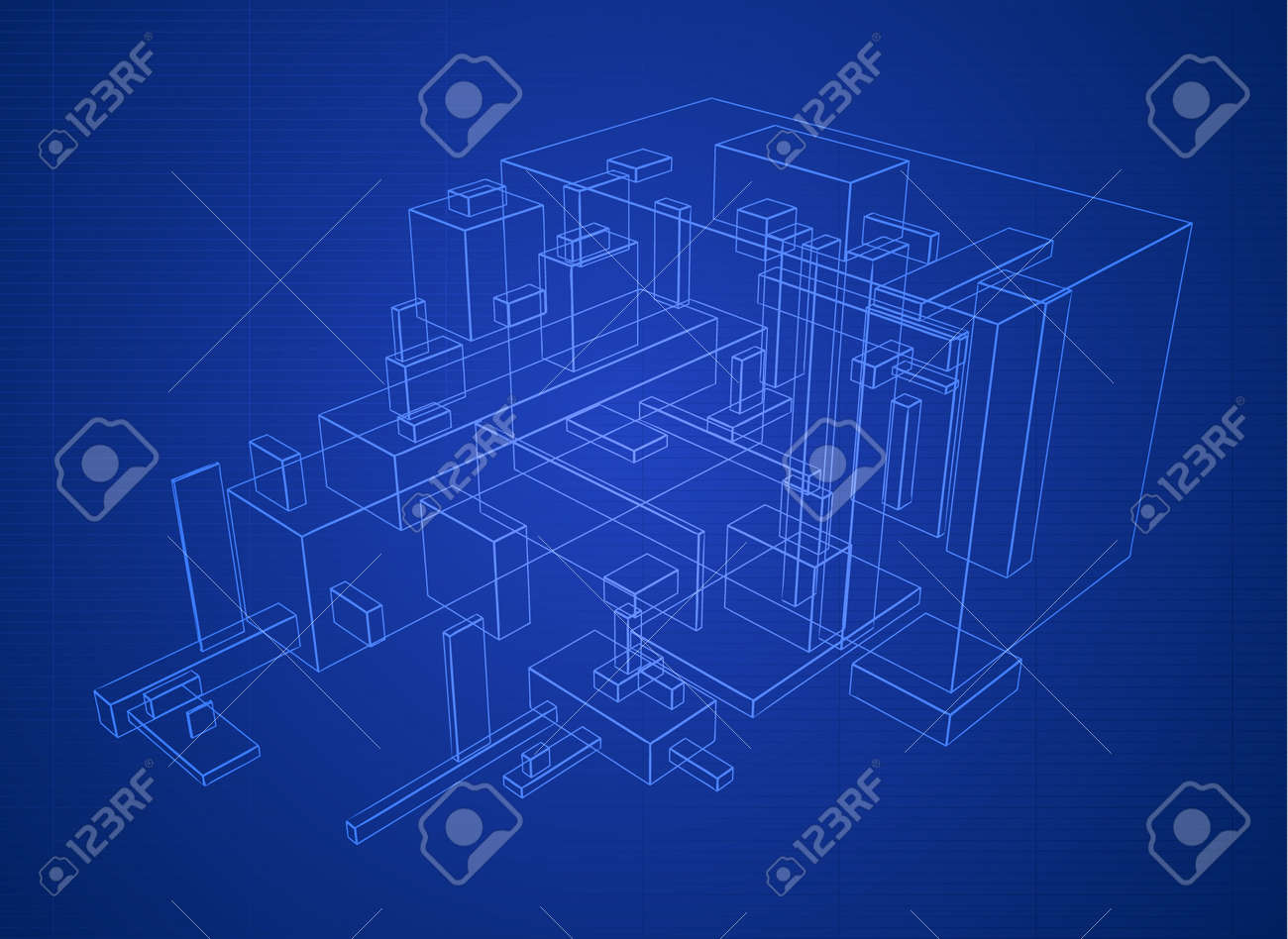 Abstract vector box build structure blueprint design Stock Vector   6160726. Abstract Vector Box Build Structure Blueprint Design Royalty Free