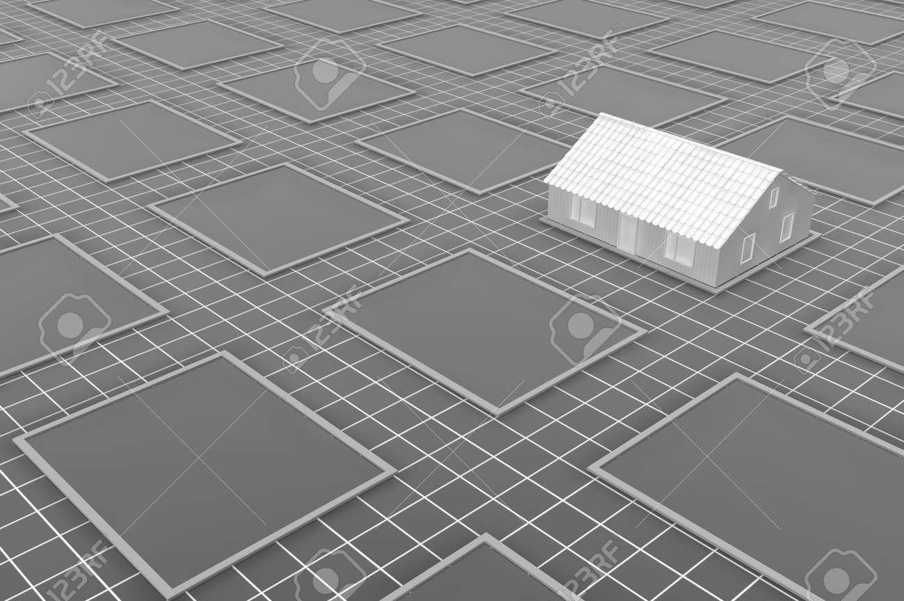 Warehouse building construction location planning design blueprint illustration warehouse building construction location planning design blueprint surface grey 3d illustration horizontal malvernweather Choice Image