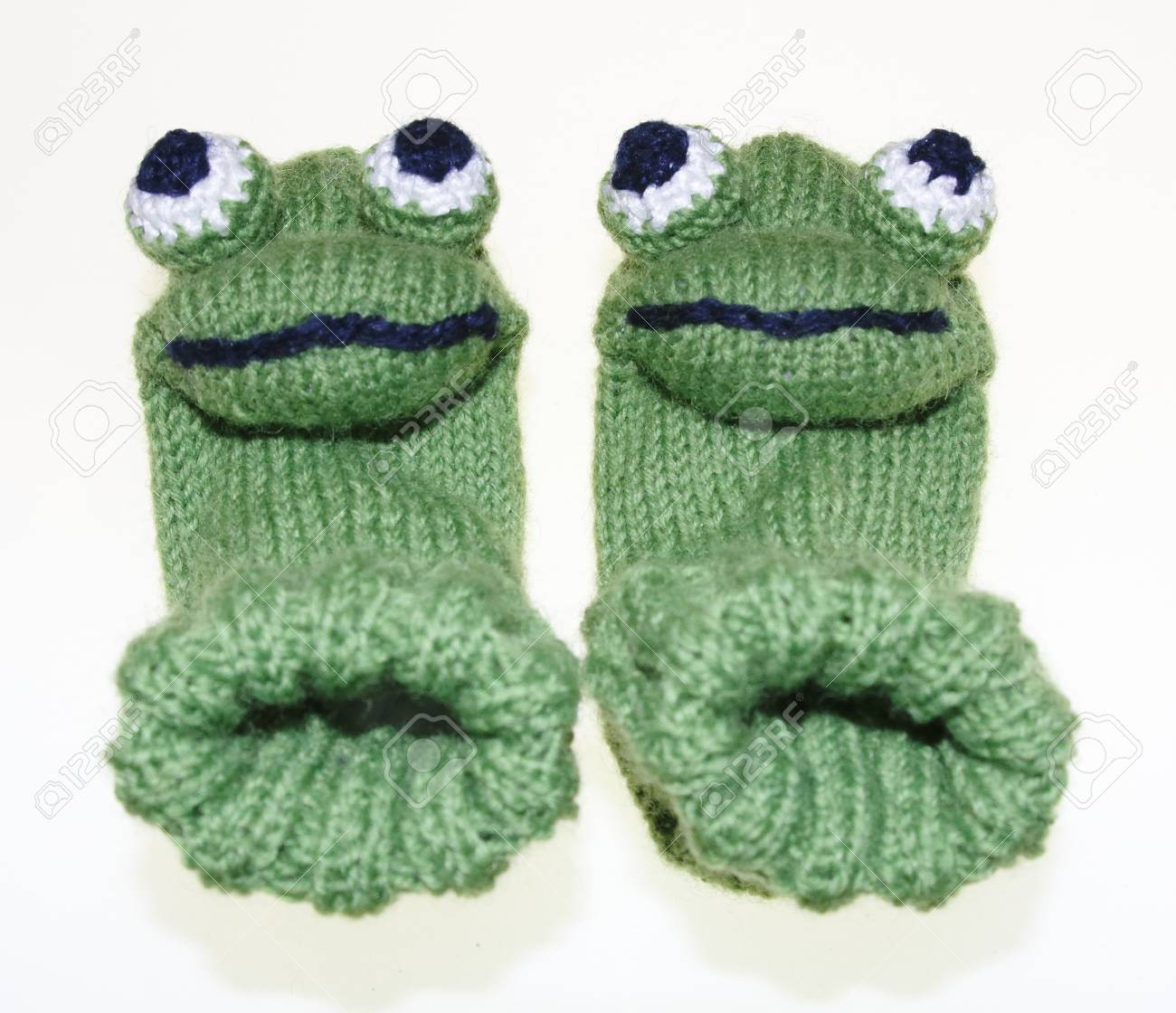 Witty Baby, Children Frog Socks, Socks, Knitted Stock Photo, Picture ...