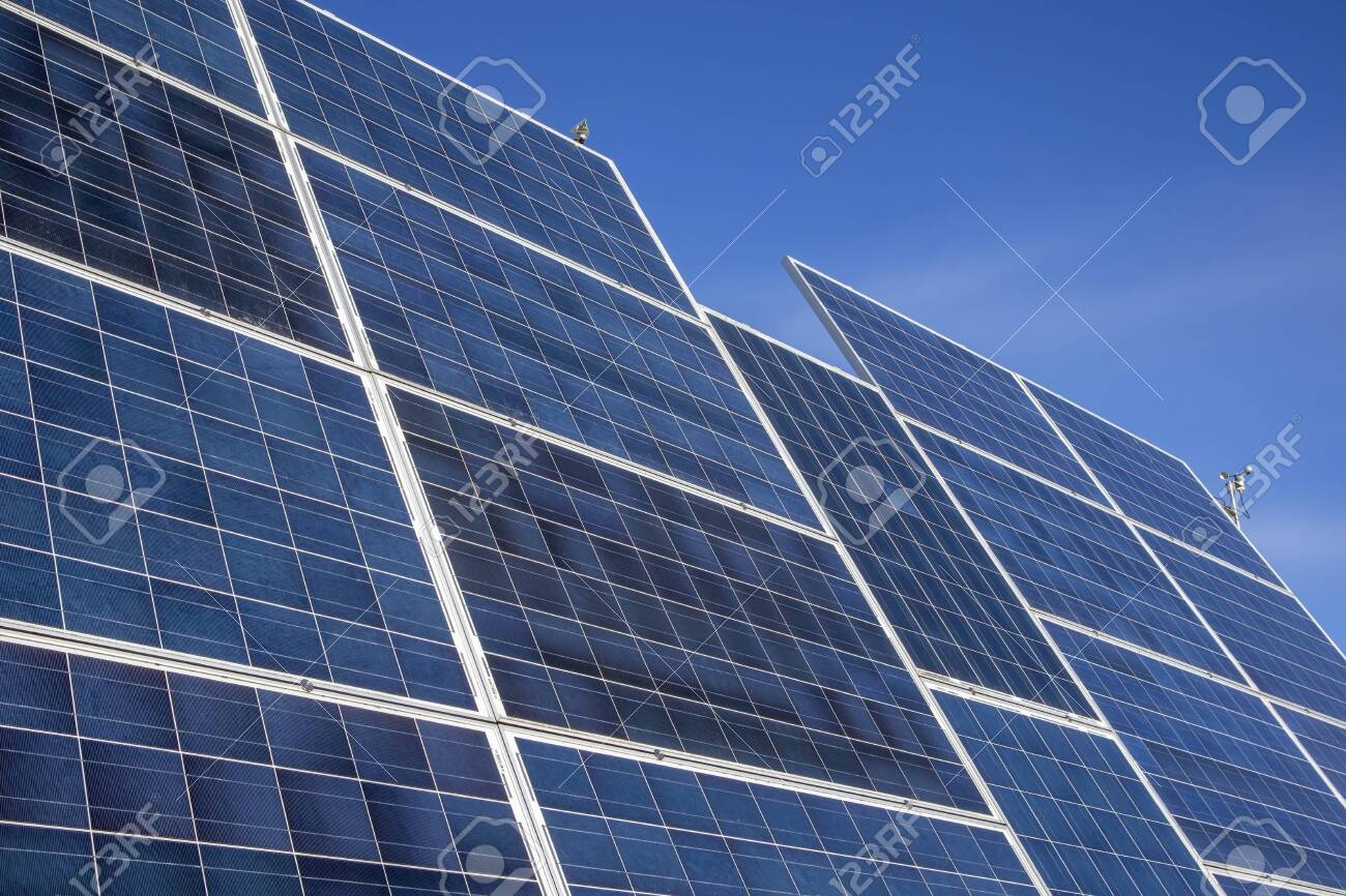 solar panels for electricity production - 143478048
