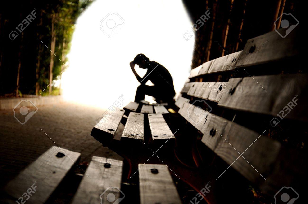 depression, teen depression, pain, suffering, tunnel Stock Photo - 13789076