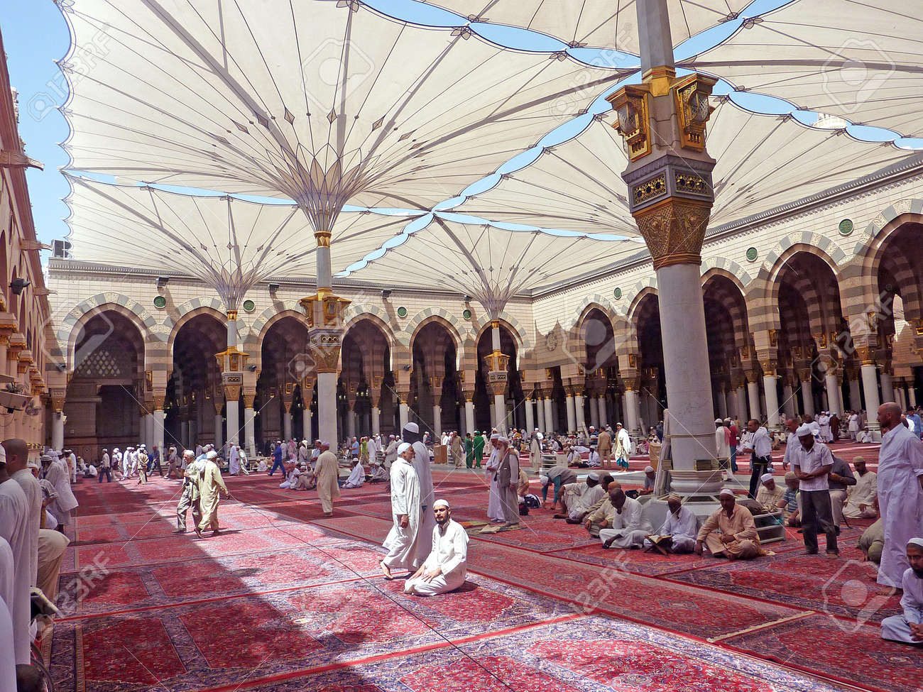 nabawi mosque medina saudi arabia stock photo picture and royalty