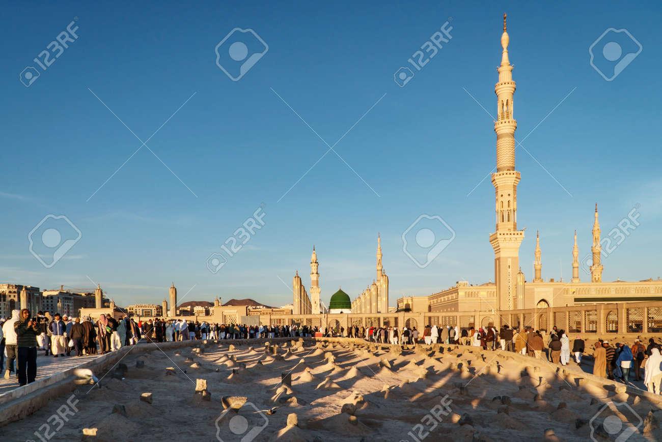 medina saudi arabia ksa feb 3 view of baqee muslim cemetary