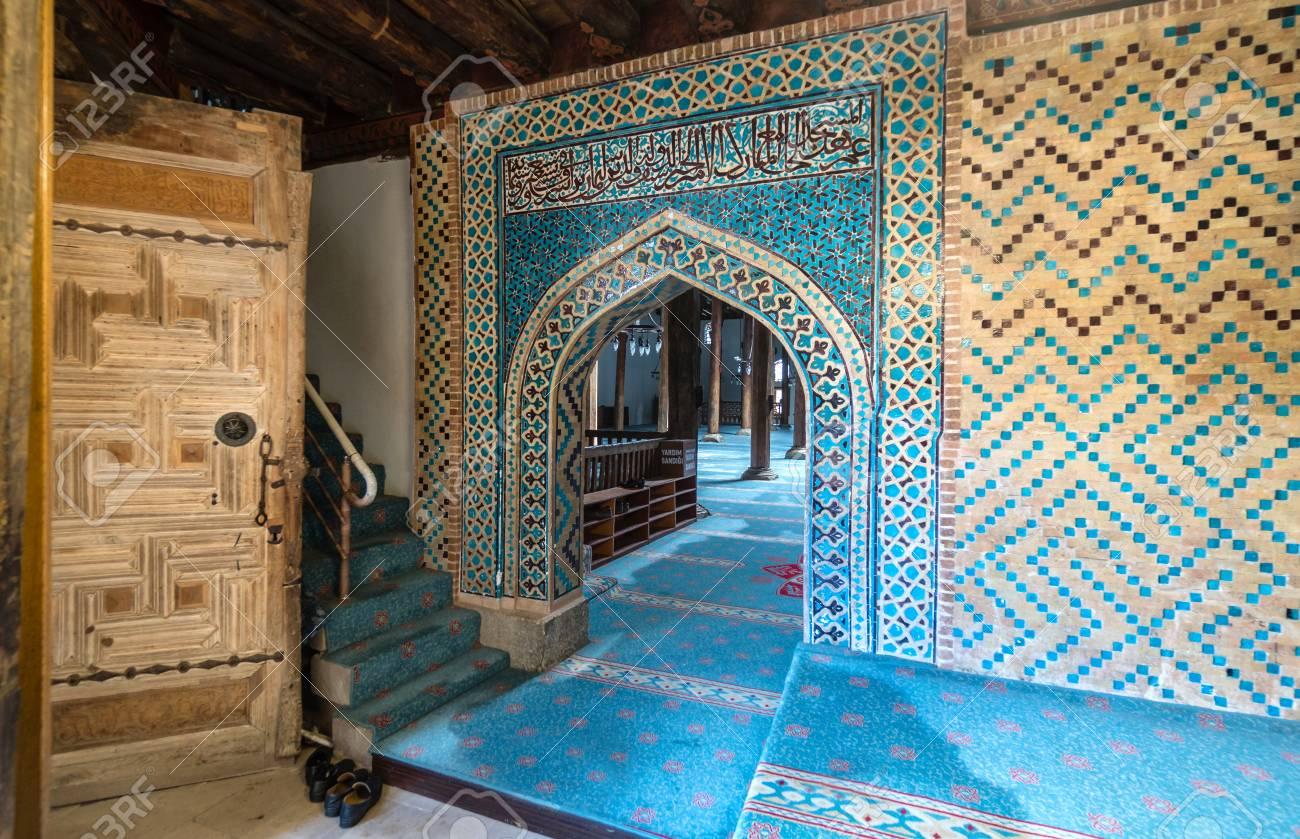 BEYSEHIR KONYA TURKEY - MARCH 24, 2018: Esrefoglu Mosque, Historical ...