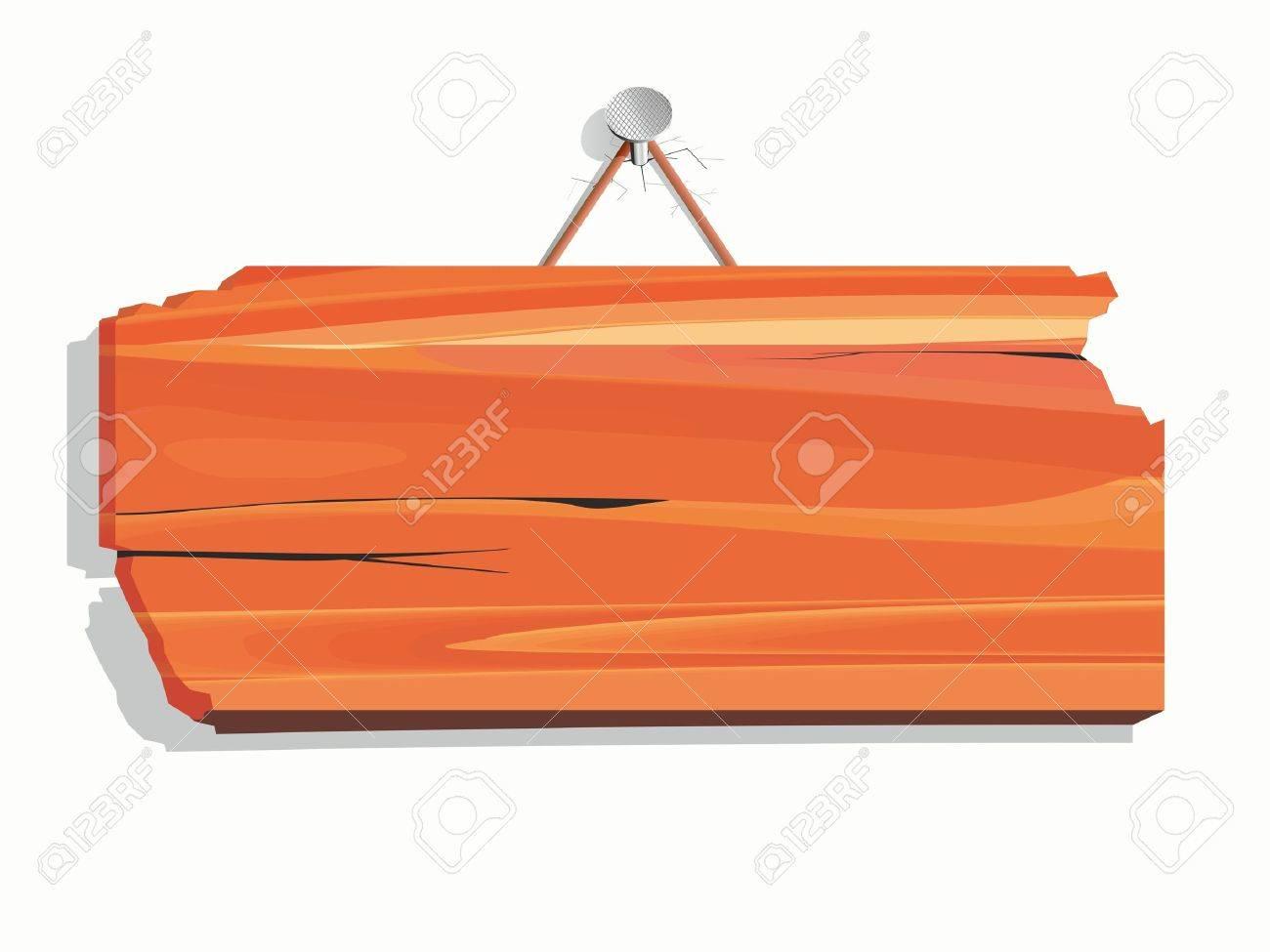 blank wood board Stock Vector - 11004273