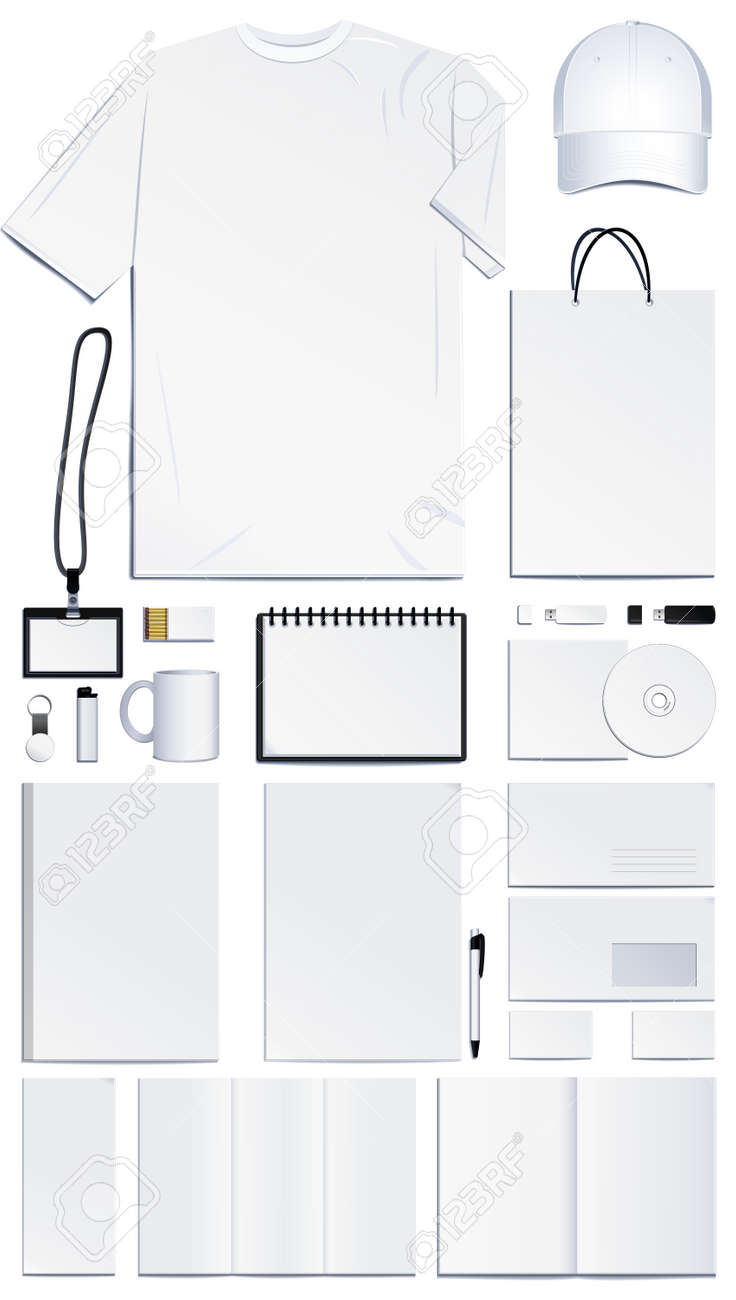 corporate identity templates vector illustration royalty free