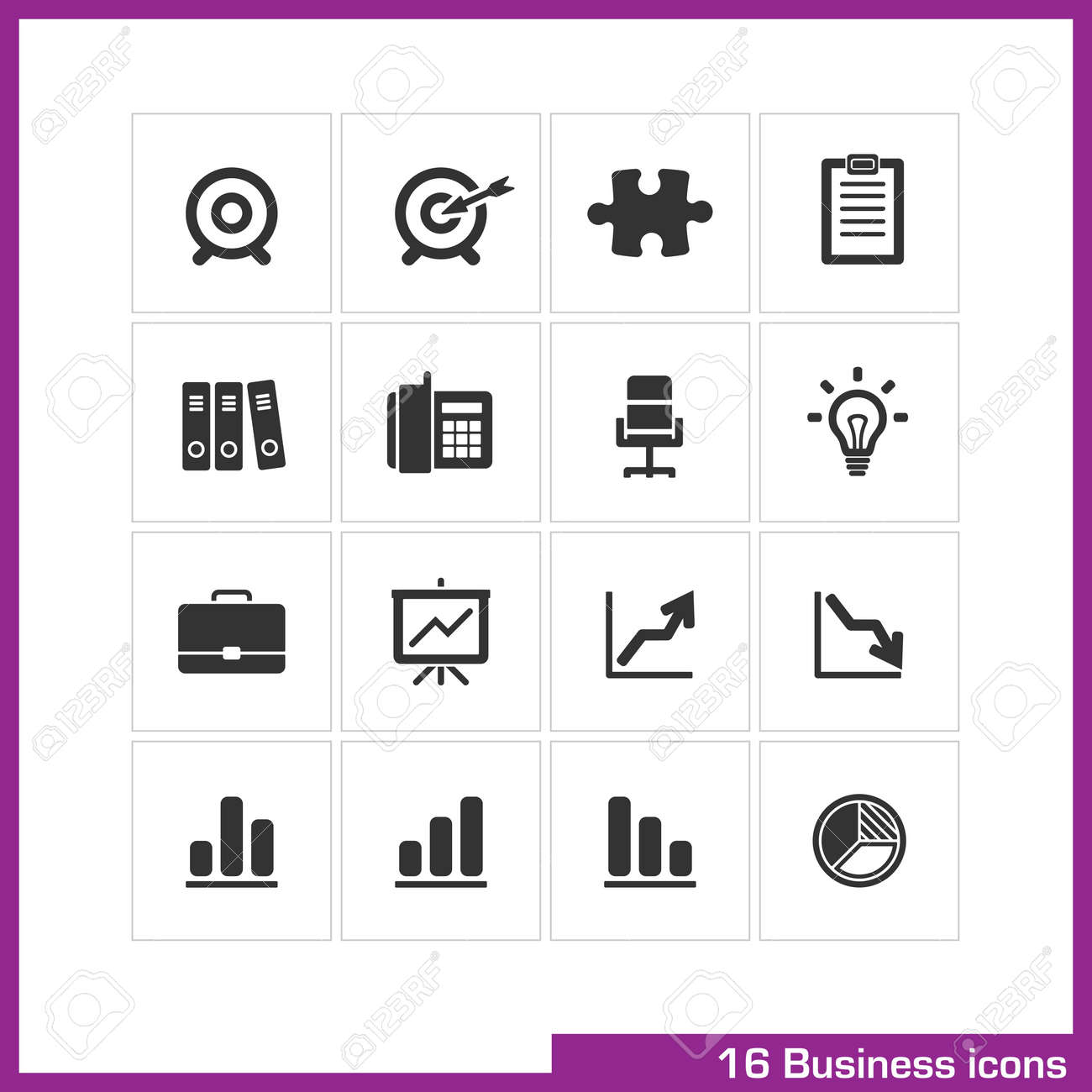 Business icon set Stock Vector - 19551116