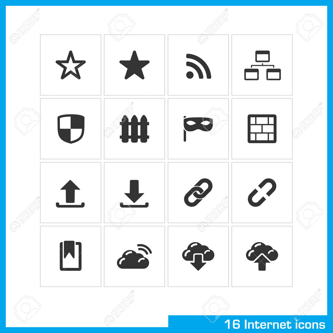 Internet icon set Stock Vector - 19551130
