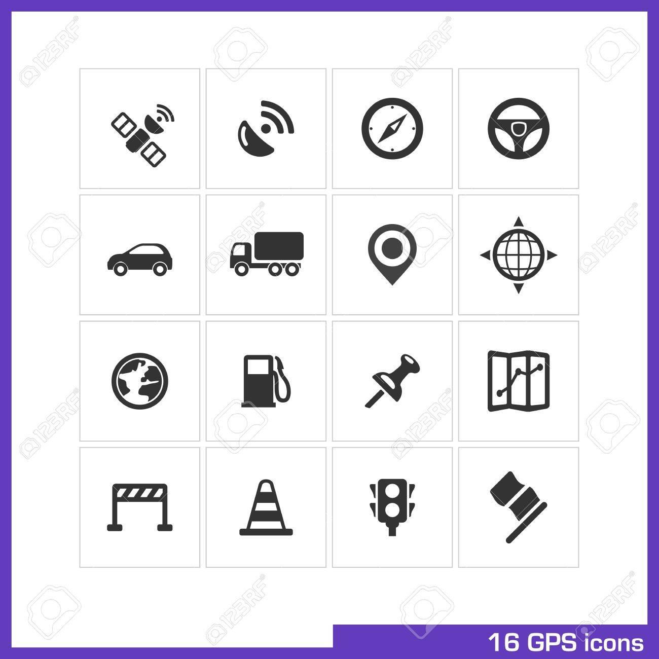 GPS icon set Stock Vector - 19551121