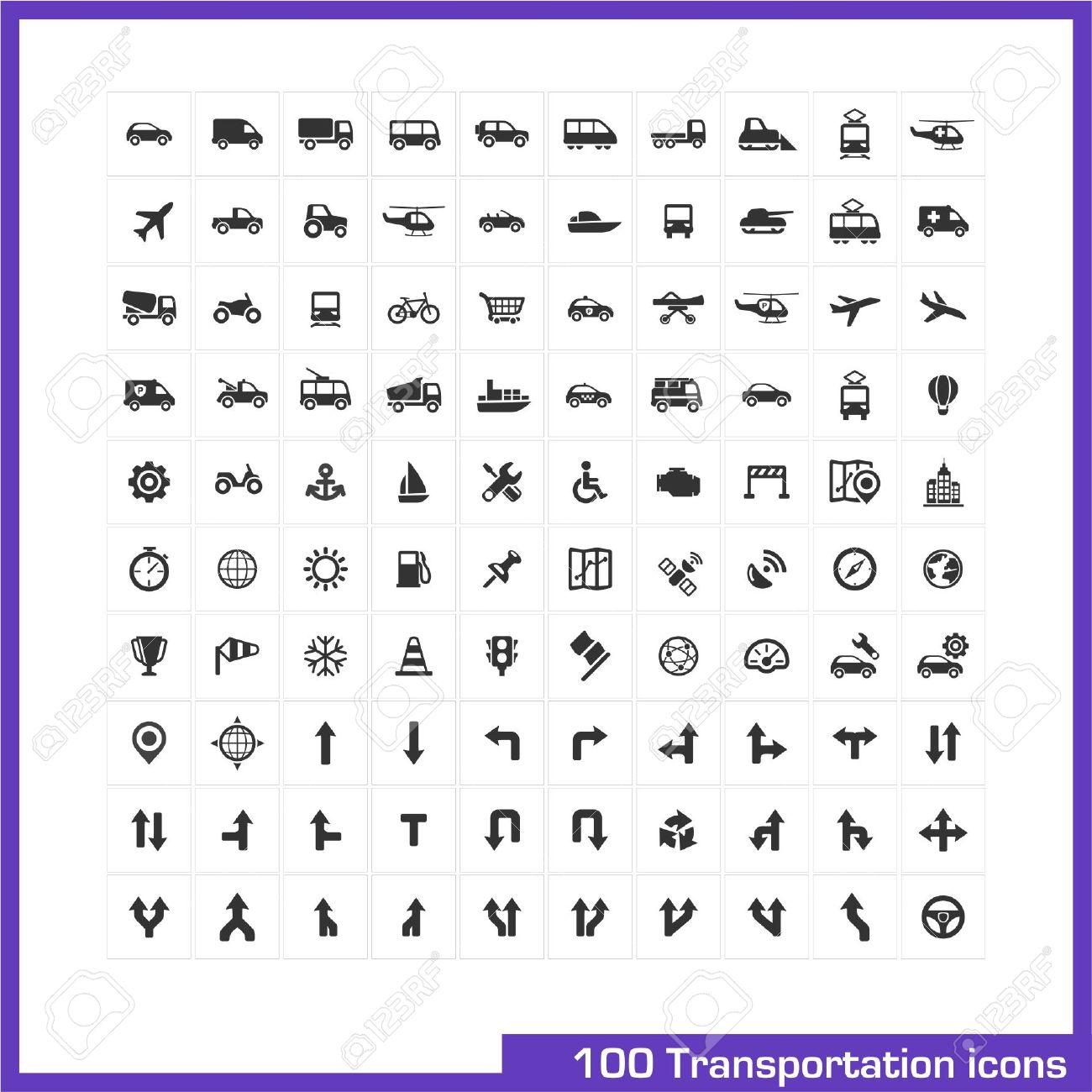 100 transportation icons set vector black pictograms for business 100 transportation icons set vector black pictograms for business industry navigation web biocorpaavc
