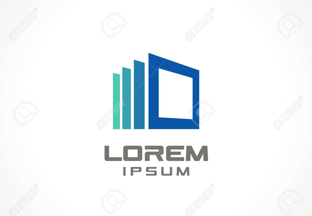 Lment De Design De L Icône Idée Abstraite Pour La Société De L Entreprise De Construction Maison Cadre Fenêtres Technologie Internet Concepts