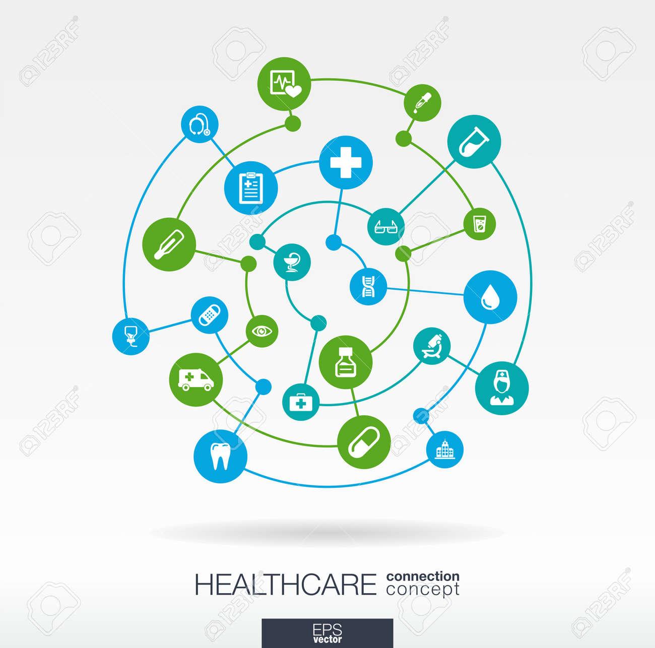 Healthcare-Verbindung Konzept. Abstrakter Hintergrund Mit ...