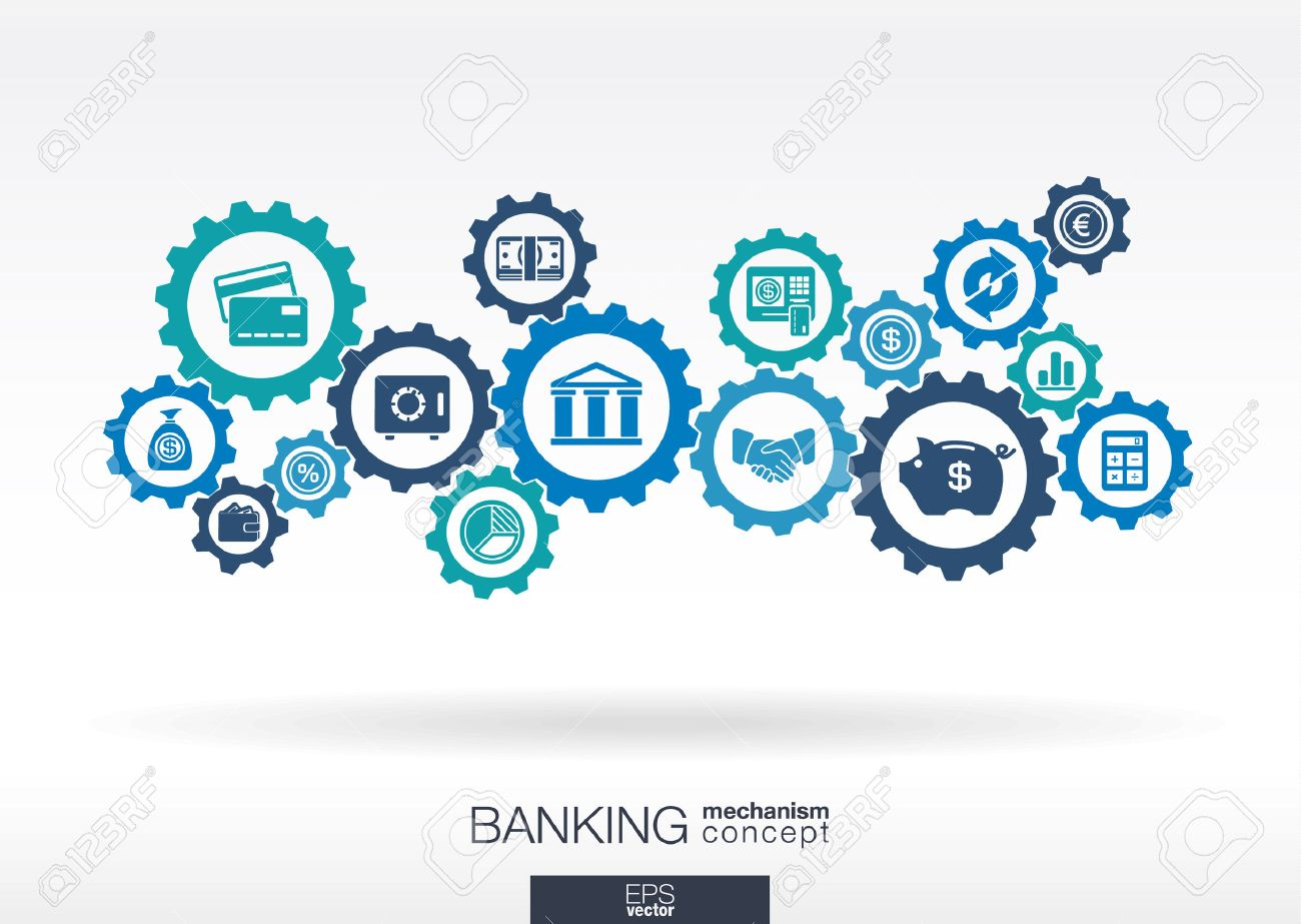 Banking Mechanism. Abstract Background With Connected Gears And ...
