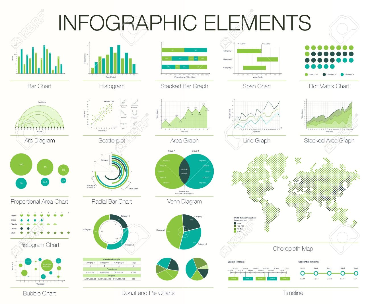 Modle infographies ensemble de conception graphique lments ensemble de conception graphique lments histogramme arc et diagramme de venn ccuart Images