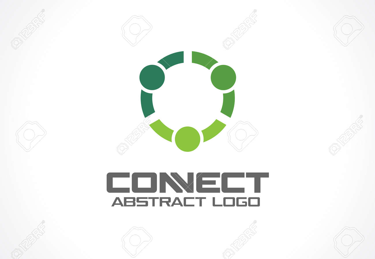 Abstract logo for business company. Corporate identity design element. Technology, Social Media Logotype idea. People connect, Circle, segment, section, geometric concept. Colorful Vector icon - 60944180