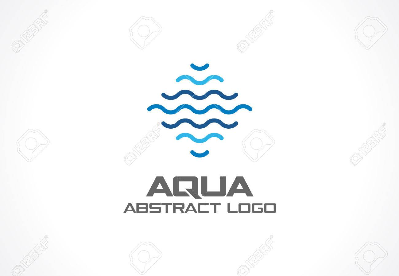 Swimming Pool Logo Design | Abstract Logo For Business Company Corporate Identity Design