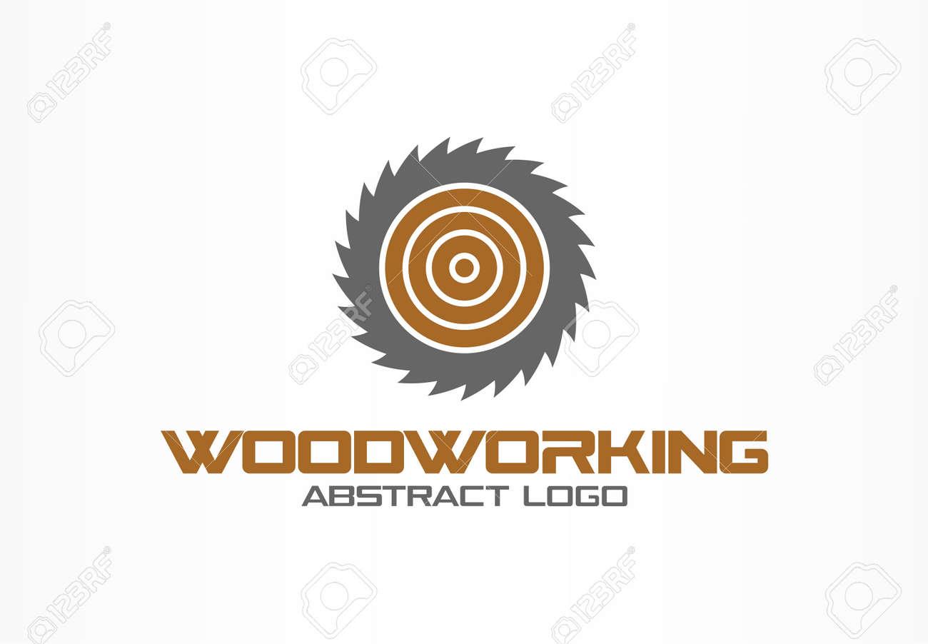 53fac070aef24 Élément de design d'identité d'entreprise. Scie, menuiserie, idée de logo de  matériel en bois. Scierie, cercle, concept de rotation de la lame ronde.
