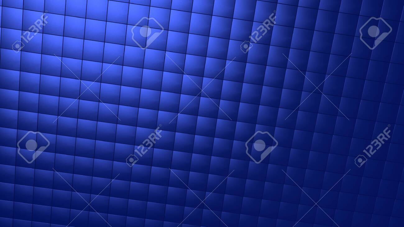 Background image with light blue tiles in perspective view - 151767148