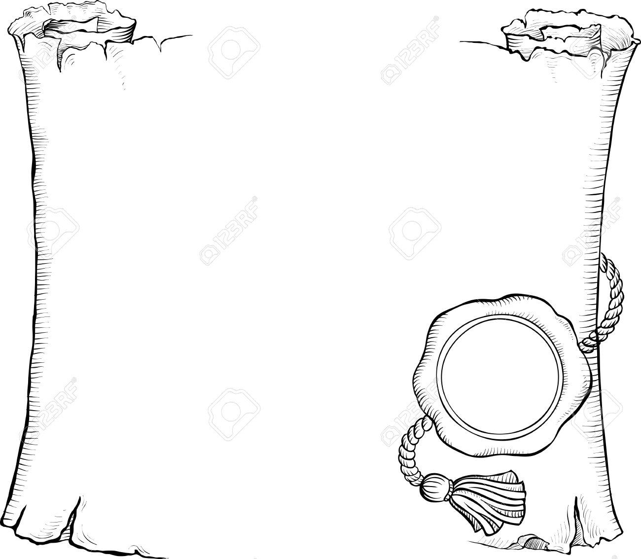 Dibujado A Mano Marco Blanco Y Negro Ilustración Vectorial Aspecto ...