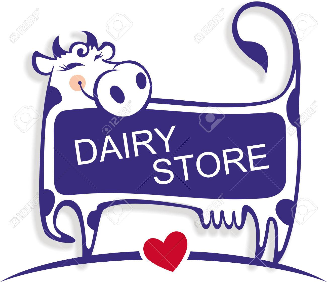 vector illustration of a cute good cow template for banner