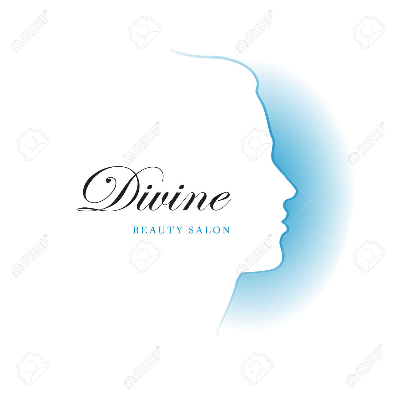 Vector Illustration Girl Silhouette Profile Template Or Abstract ...