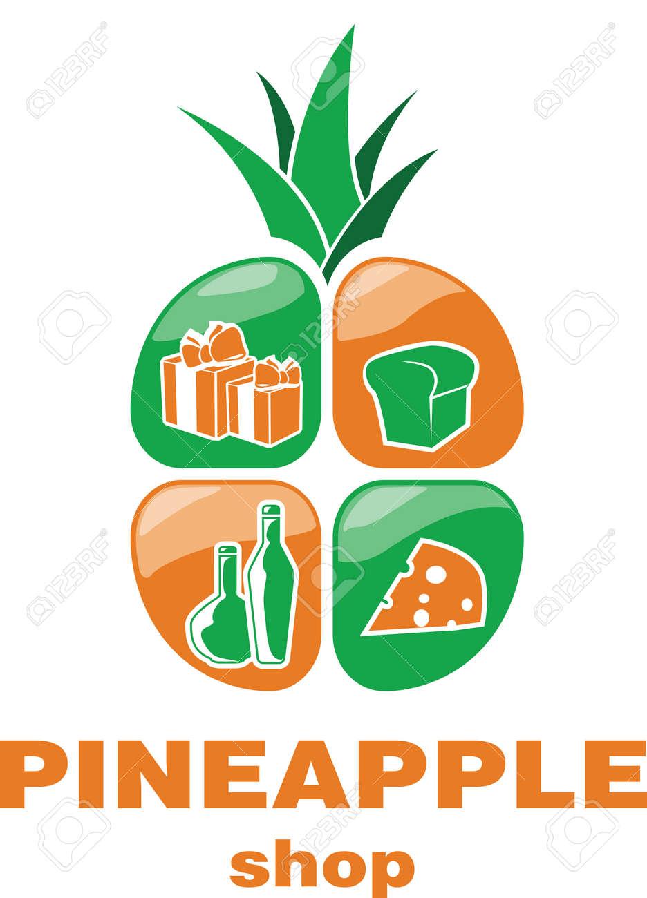 Fresh Food Fresh Pineapple Logo Design Vector Template Online