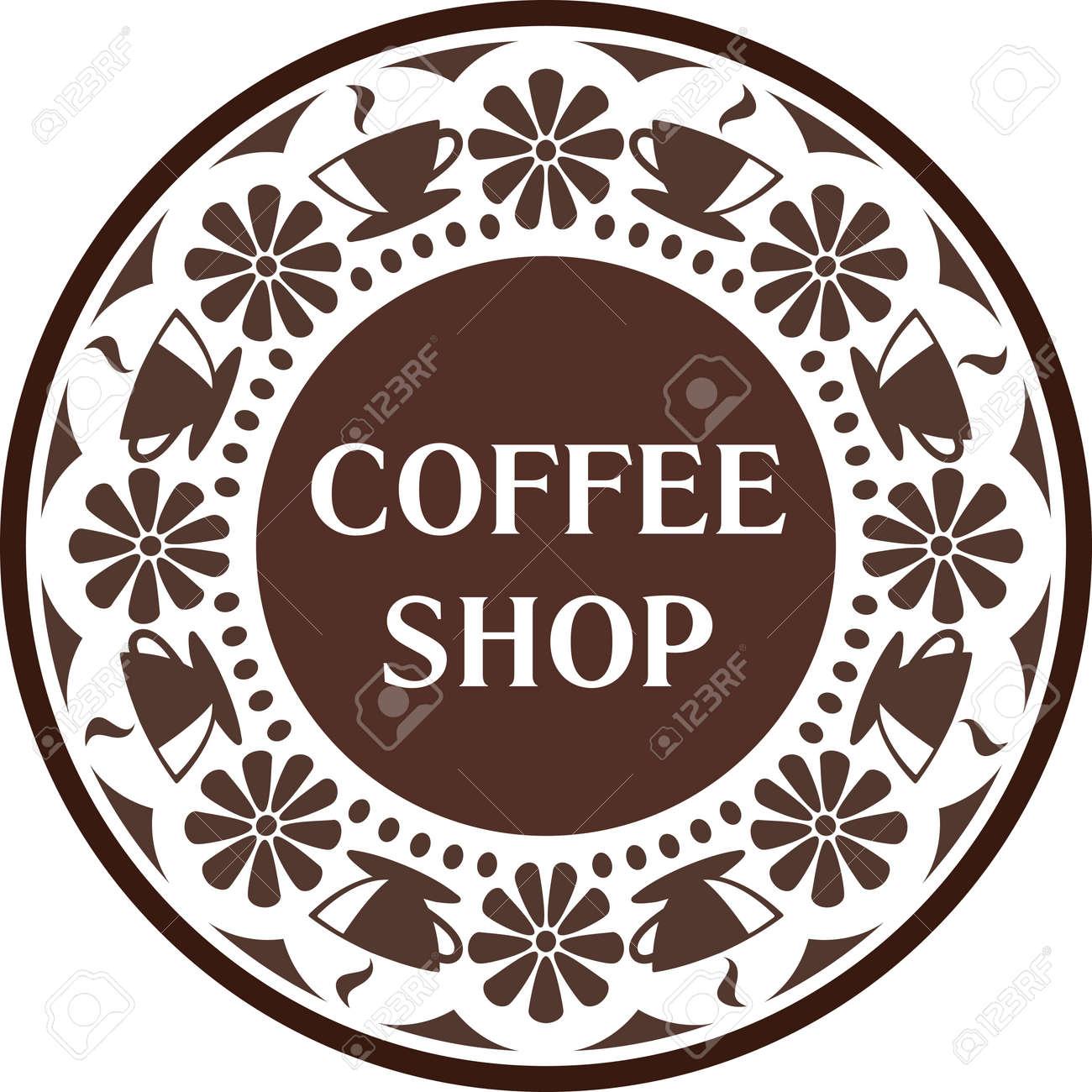 Plantilla De Diseno De Logo De Cafeteria Emblema Del Cafe Las Tazas