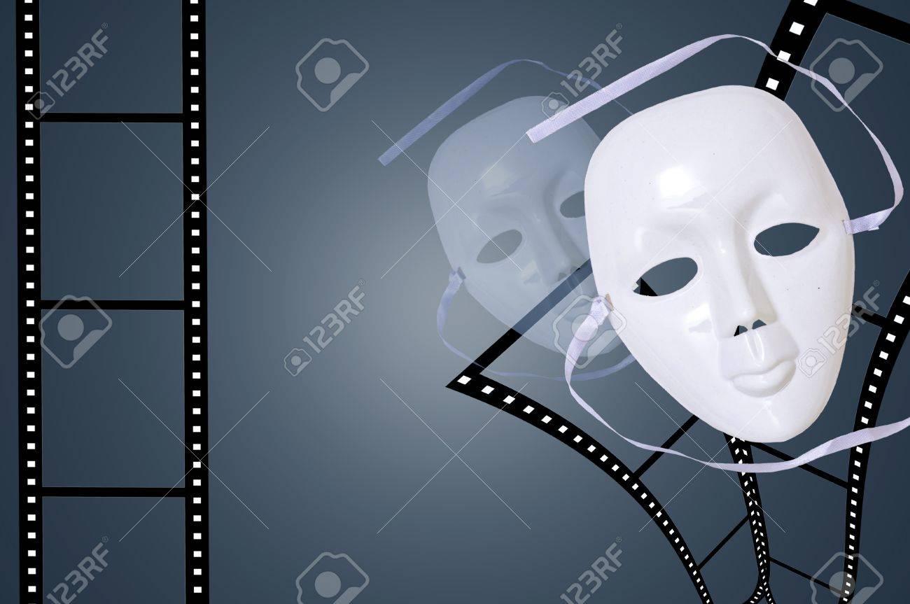 Drama Mask with Film Stock Photo - 14096860