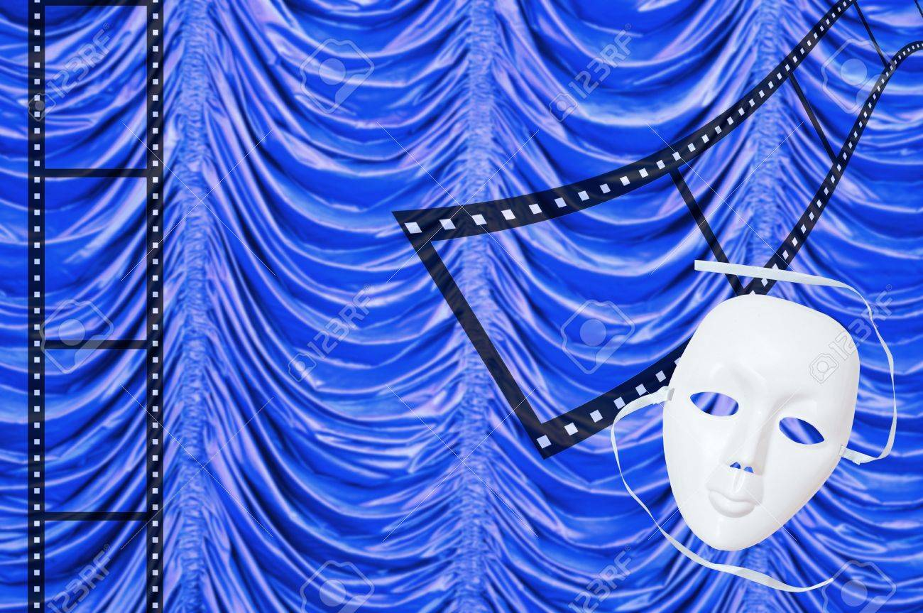 white drama masks in studio Stock Photo - 14256491