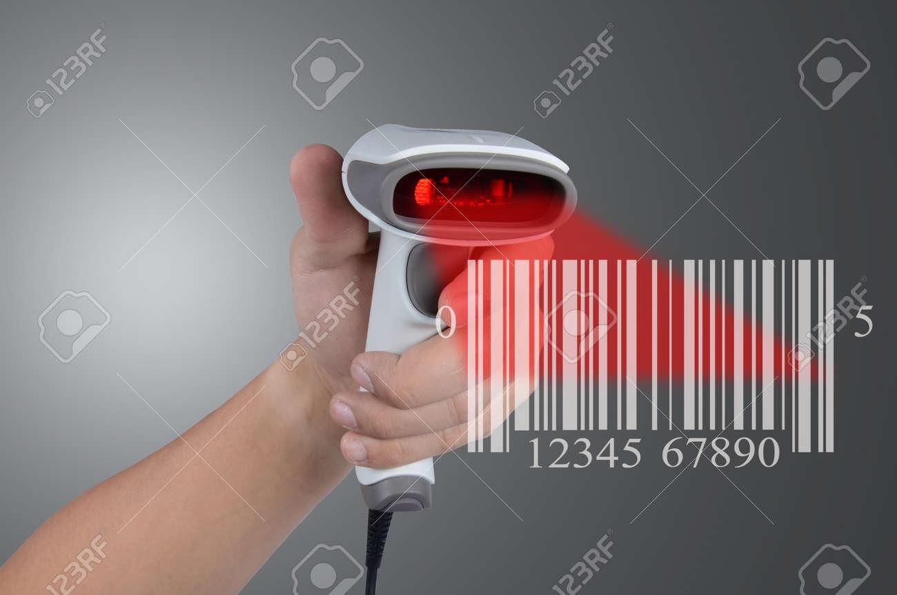Scanning barcode Stock Photo - 15128382