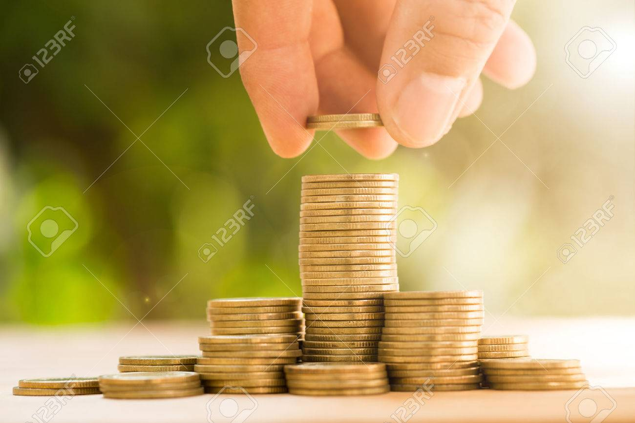 Save money with stack money coin for growing your business - 50585815