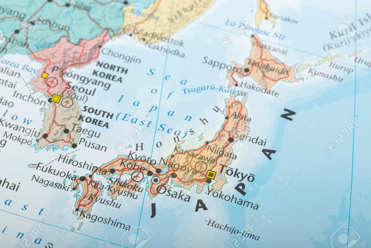 Japan map geography detail concept stock photo picture and royalty japan map geography detail concept stock photo 57020702 gumiabroncs Images