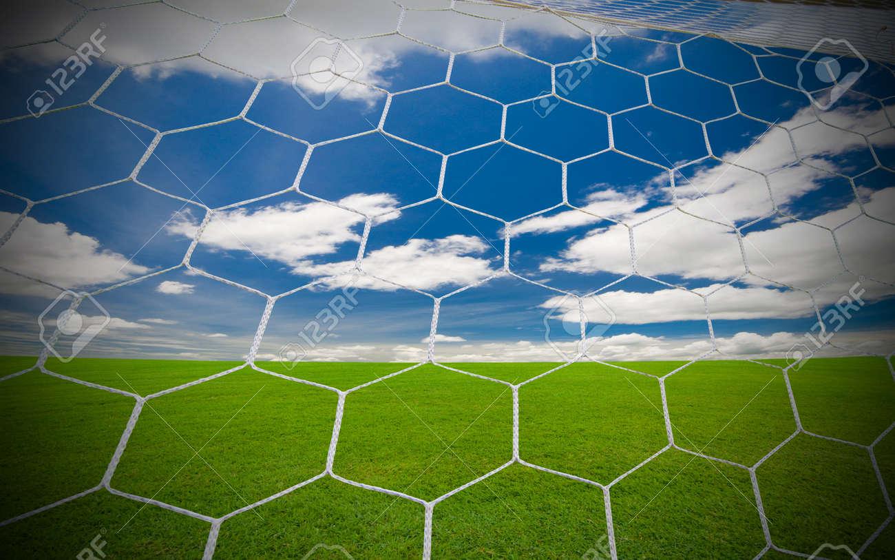 soccer goal under the blue sky Stock Photo - 8554645