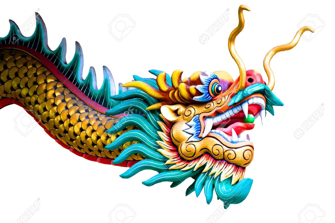 isolated chinese dragon on white background - 10750901