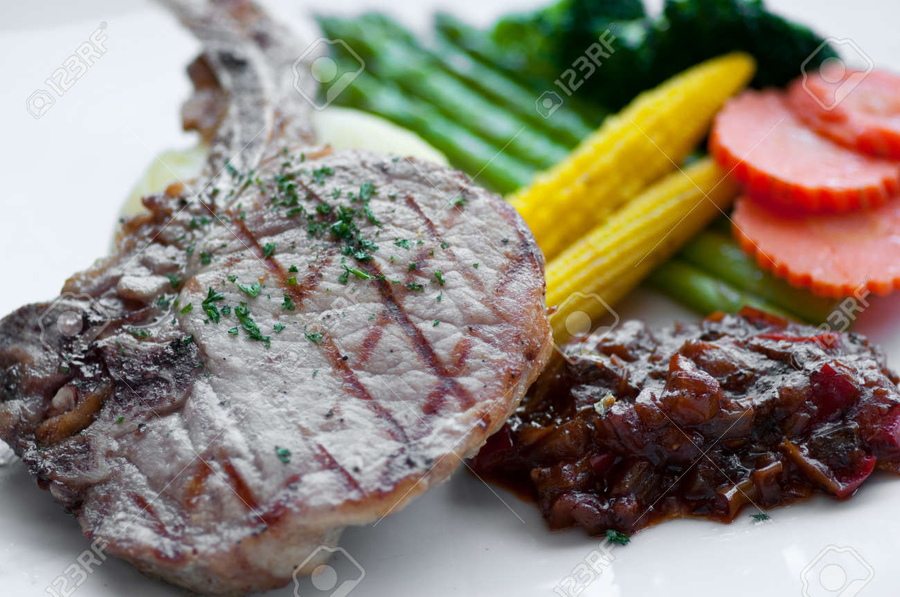 dish of Pork Chop Steak Stock Photo - 12056456