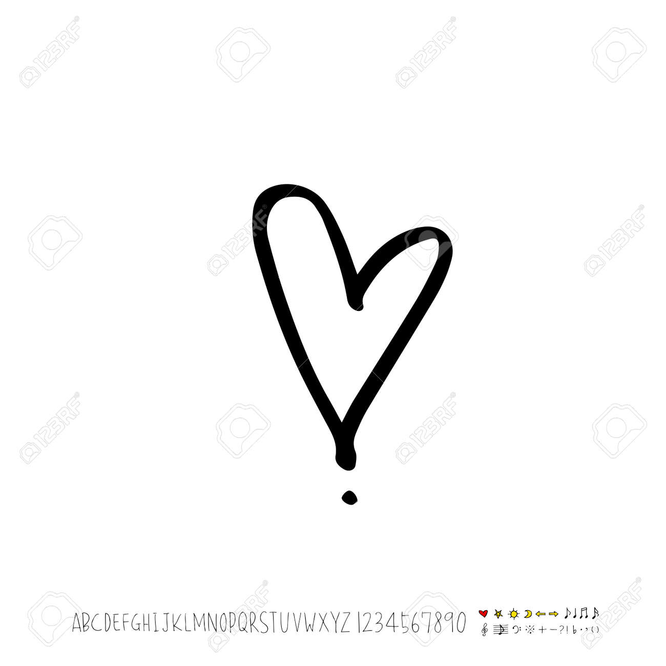 Heart Pattern Hand Drawn Heart Sketch Vector Royalty Free