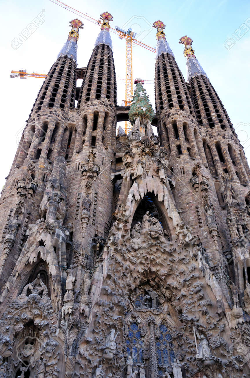 Sagrada Familia - Barcelona, Spain Standard-Bild - 9769766