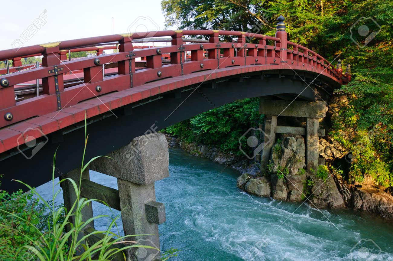 Shinkyo bridge in Nikko, Japan Standard-Bild - 10801495