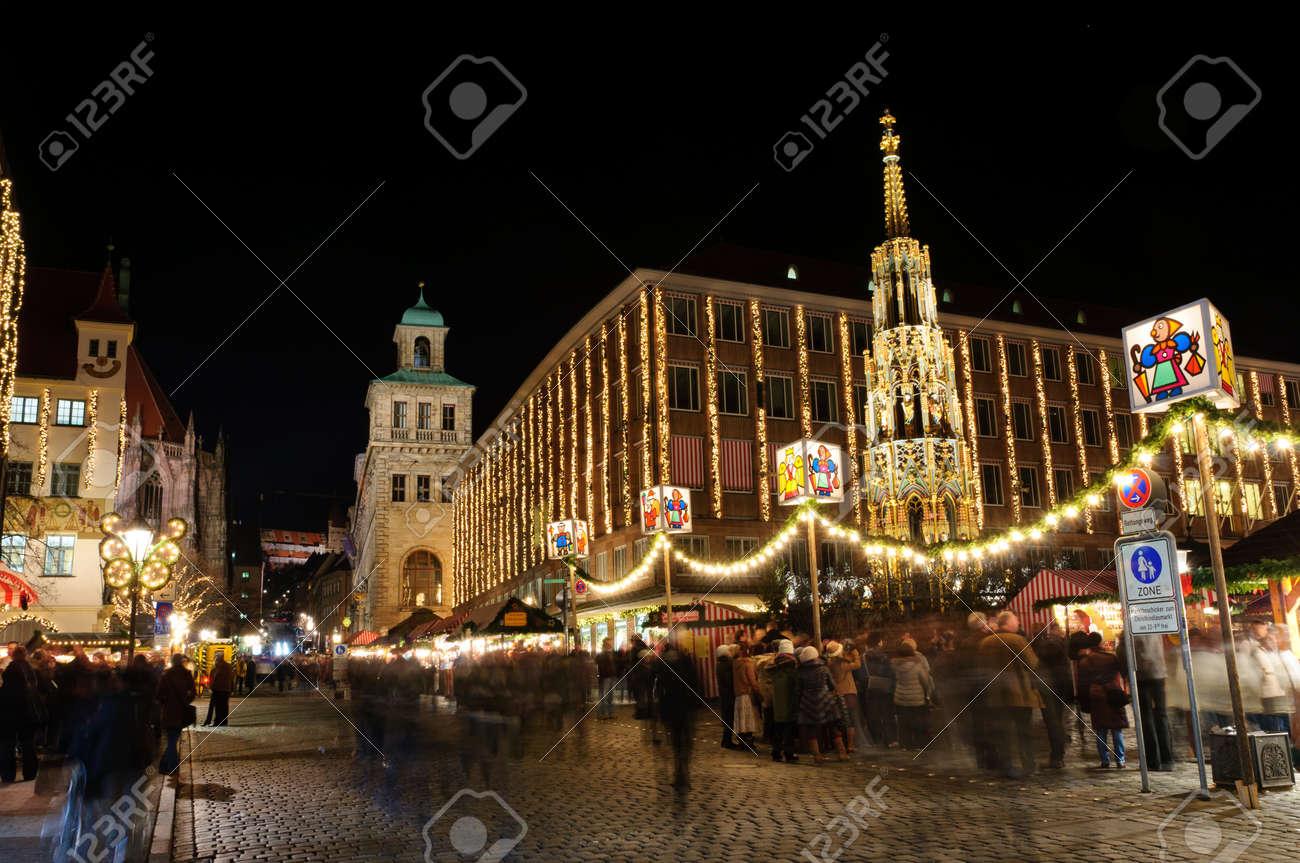 Christkindlesmarkt  Christmas market  in Nuremberg, Germany Stock Photo - 12322349