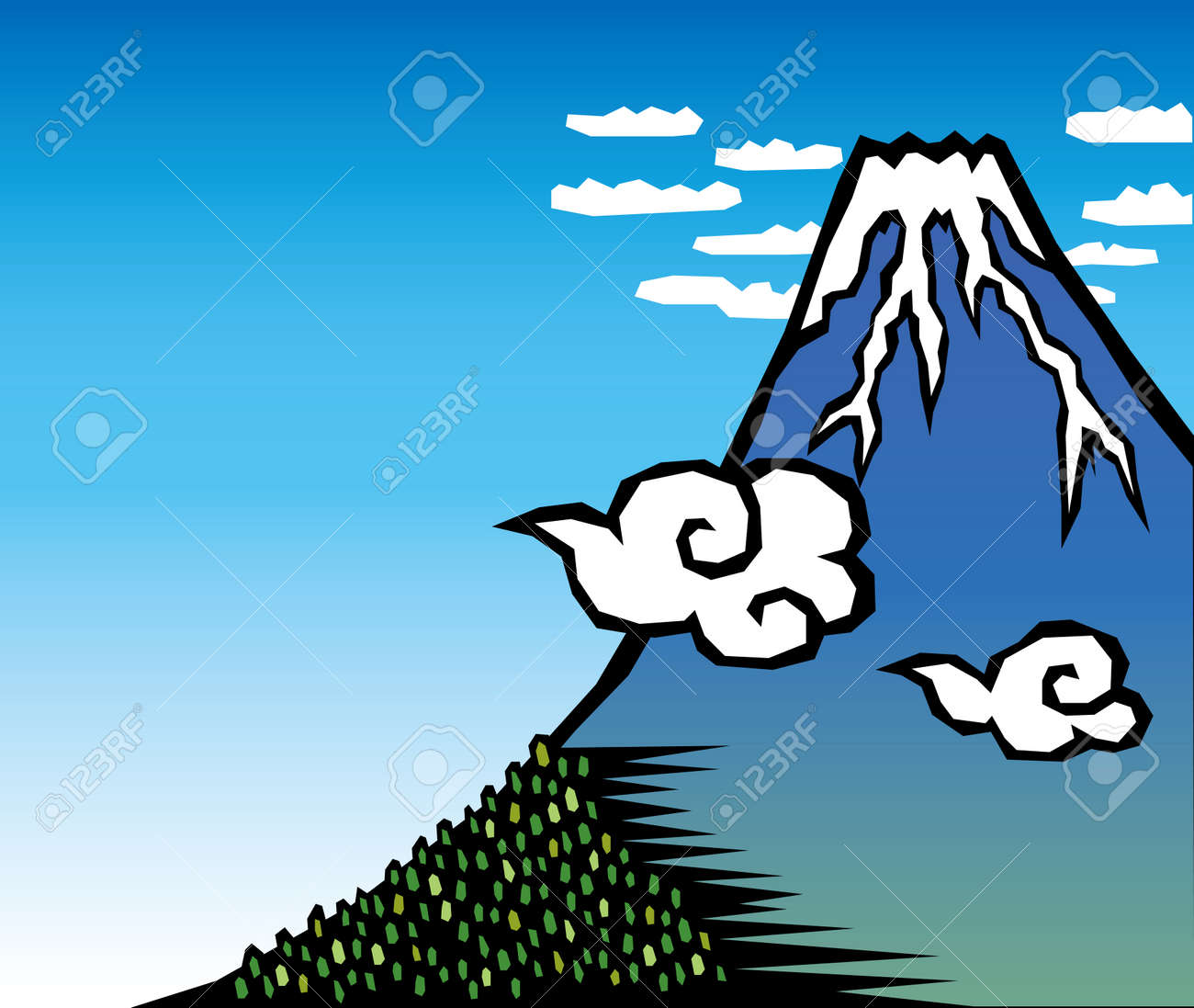 Mt  Fuji Stock Vector - 24201326