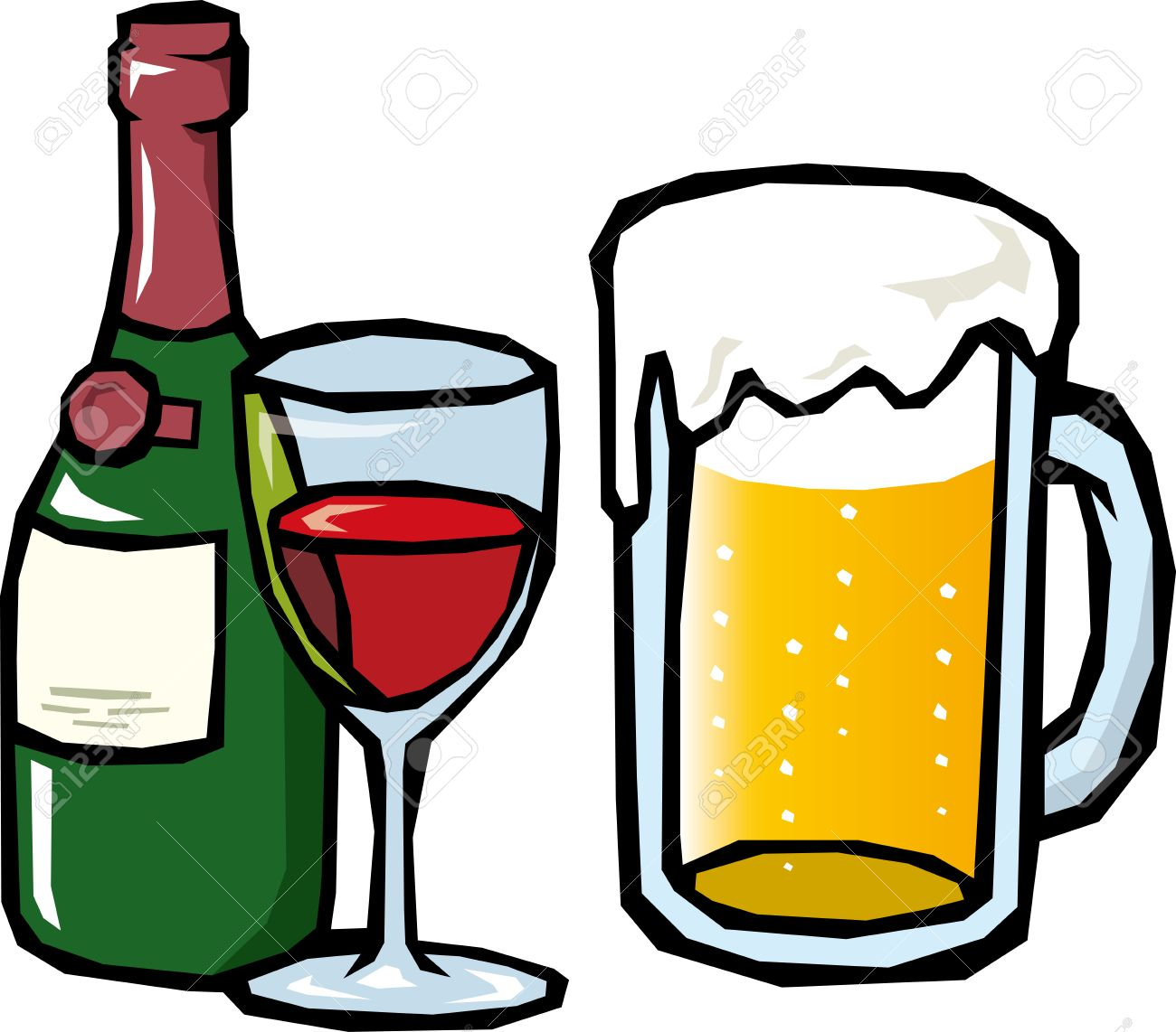 Beer And Wine Royalty Free Cliparts Vectors And Stock Illustration Image 24201328
