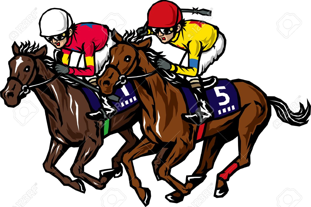 free clip art images horse racing intended for your reference