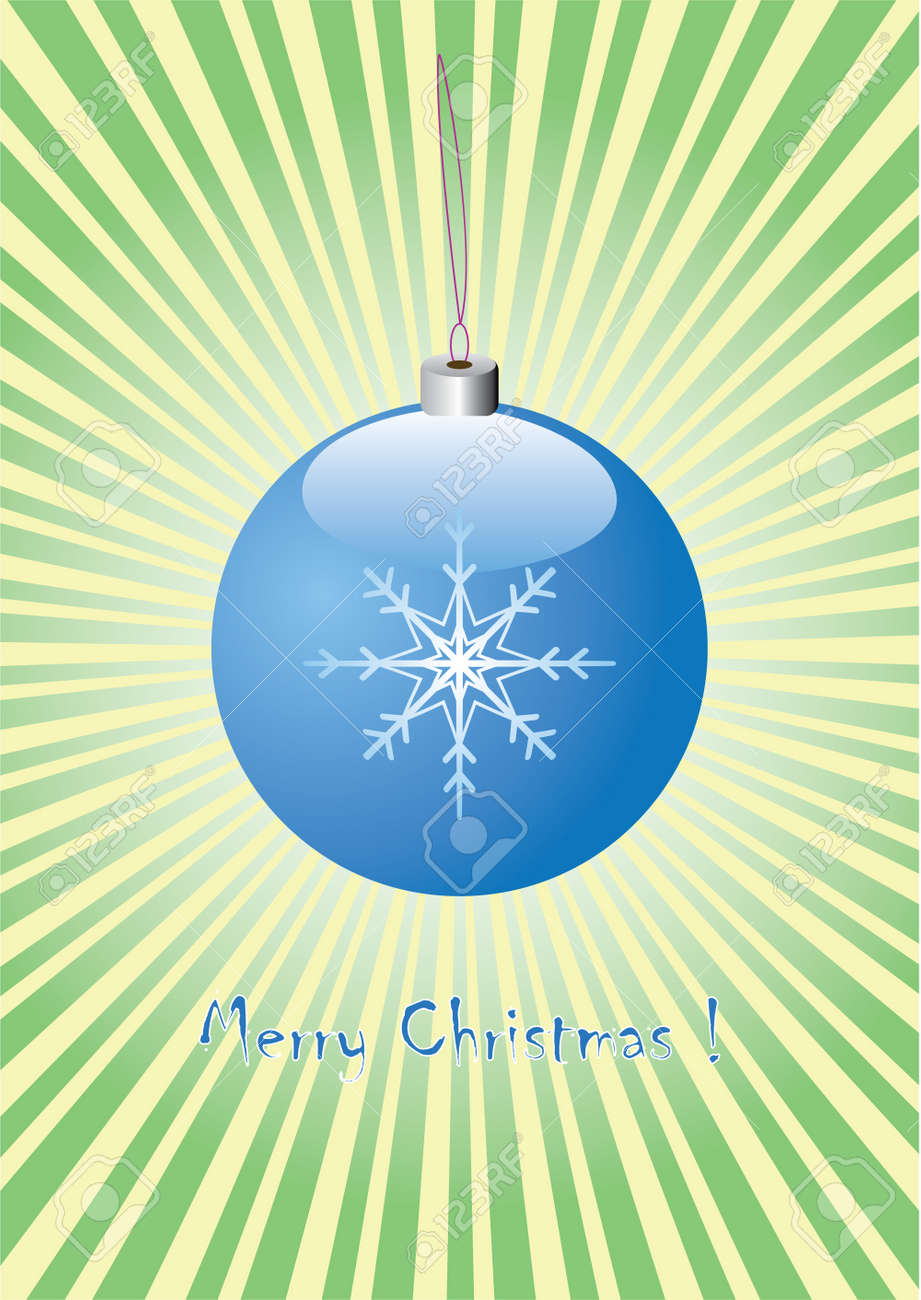 christmas blue ball Stock Vector - 8206355