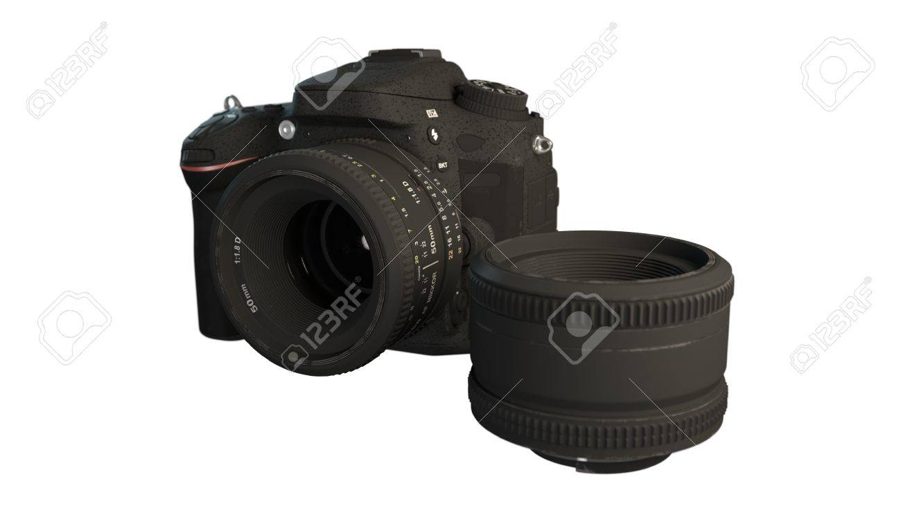 Camera 3d Dslr Camera dslr camera with lens 3d illustration stock photo picture and 65710810